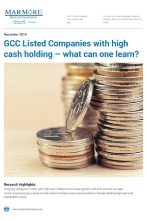 GCC Listed Companies with high cash holding